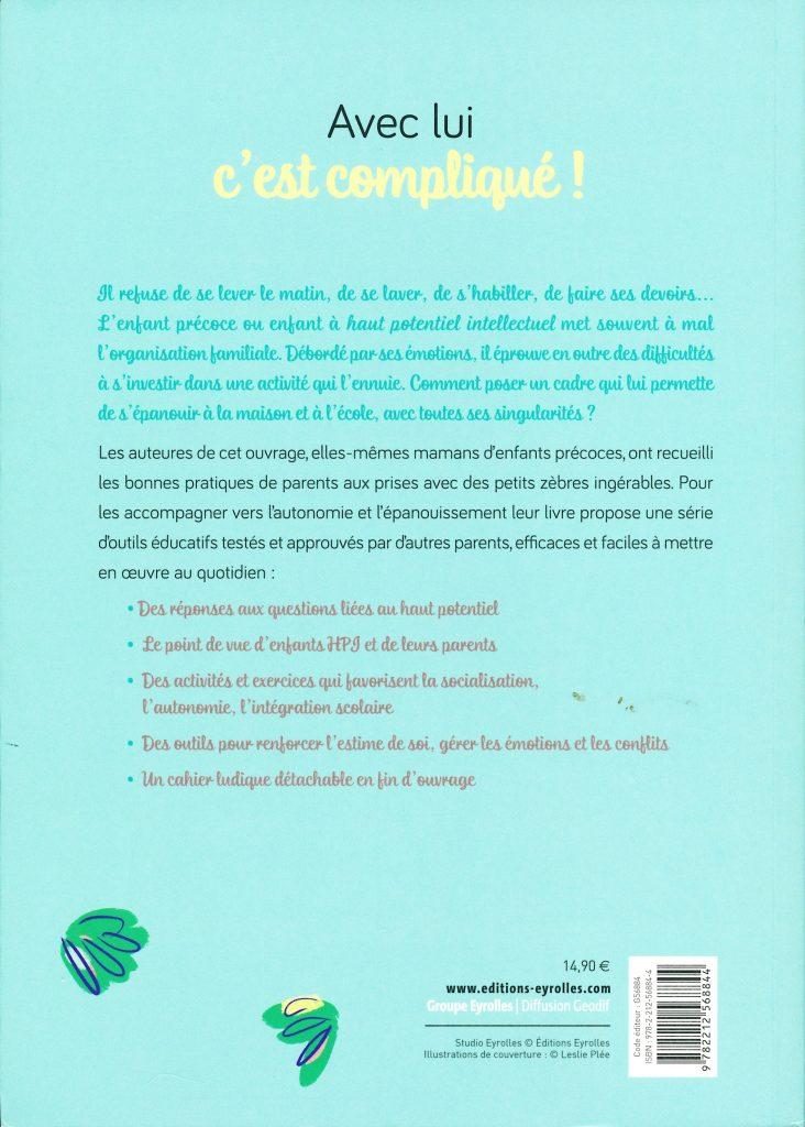 """""""Avec lui c'est compliqué ! Vivre avec un enfant précoce, l'aider à grandir et à réussir"""" de Gabrielle Sebire et Cécile Stanilewicz"""