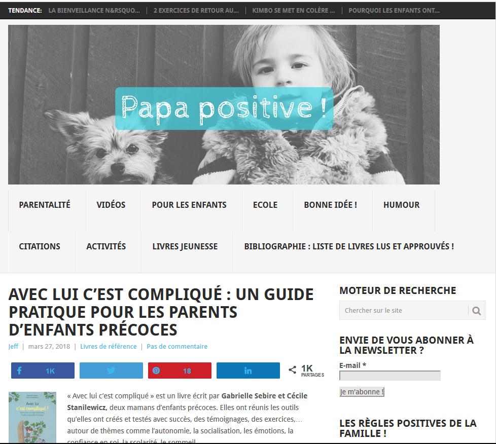 """""""Avec lui c'est compliqué"""" sur Papa Positive"""