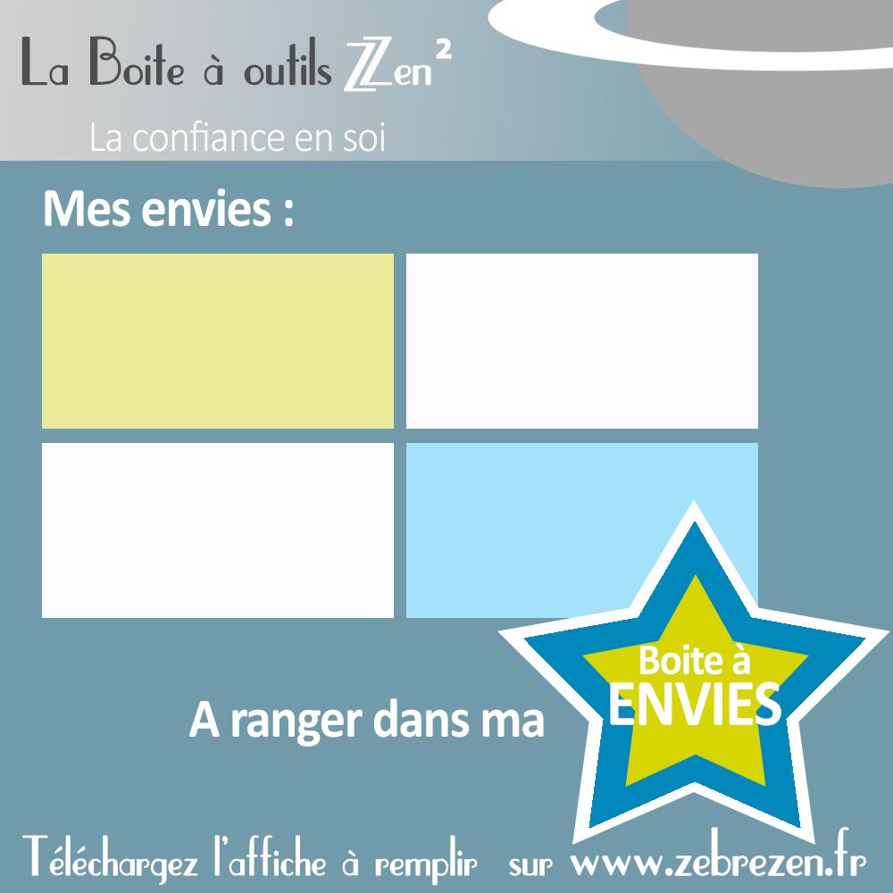 Boite à envies - Mini coaching pour enfants - confiance en soi - La boite à outils de Zèbre Zen à Bordeaux Martignas Gironde